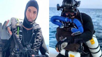 """Photo of """"أميرال الخليج"""".. غواص مغامر يستكشف السفن الغارقة في كهوف المحيطات"""